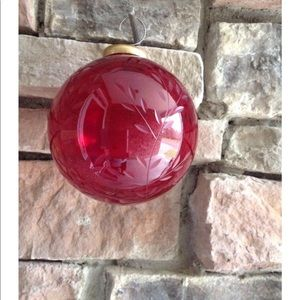 Vintage Ruby Red Glass Ornament